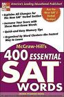 McGraw-Hill's 400 Essential SAT Words by Denise Pivarnik-Nova (Paperback, 2004)