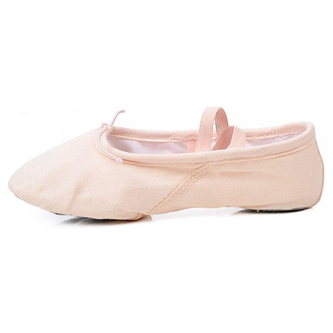 Toddler Girl /& Adult  Ballet Dance Split-Sole Fashion # 1 Canvas Slipper Shoes