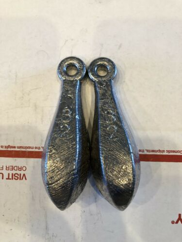All Sinkers Are Made In The USA 6 2lb Bank Deep Drop Fishing Sinkers