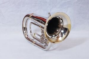 Euphonium-3-valve-Nickel-Brass-Bb-pitch-with-hard-case-and-MP