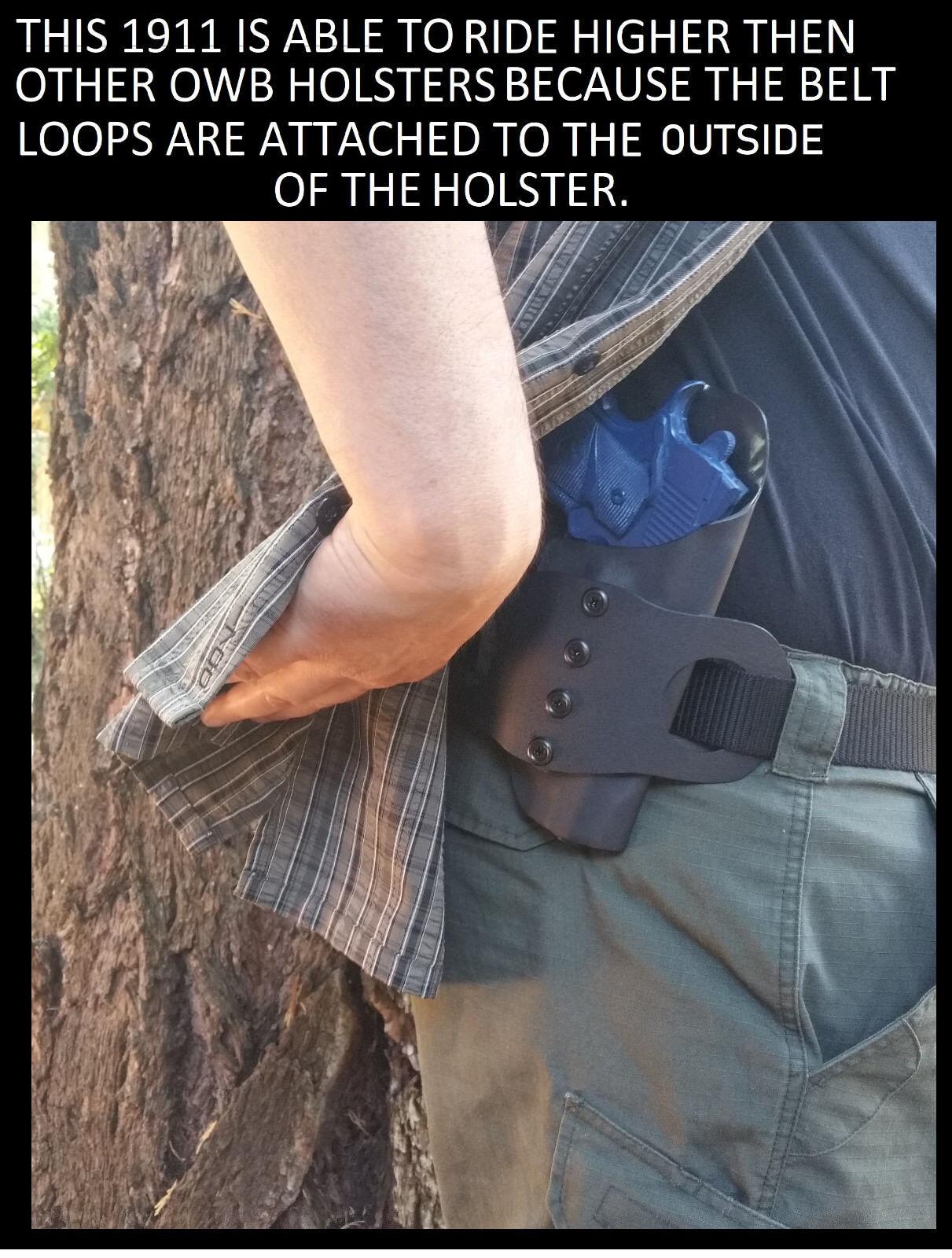 "1.75/"" Belt Loop OWB Multi Holsters Hipster Outside-the-Waist"
