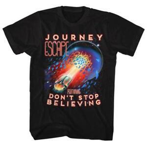 Journey-Escape-Don-039-t-Stop-Believing-Licensed-Men-039-s-Classic-Rock-T-Shirt
