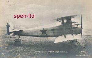 Originale-Sanke-Karte-Flugzeug-franzoesischer-Spat-Kampf-Einsitzer