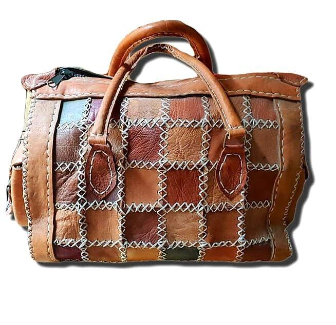 Grand Vente! Sac de voyage en cuir véritable véritable véritable artisanale de très bonne qualité a745b0
