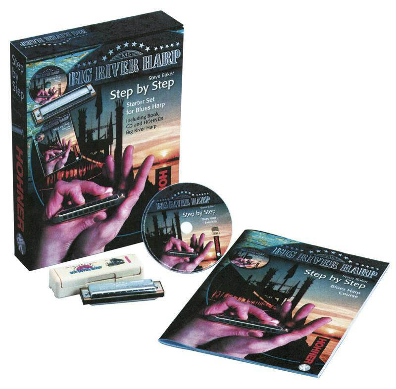 Hohner Step by Step Blaus Starter Set, CD, Book and Big River Harmonica Key of C