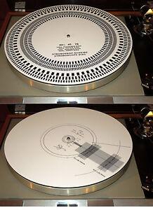 Estera-De-Tocadiscos-De-Acrilico-Cartucho-ALINEACIoN-PROTRACTOR-luz-estroboscopica-disco