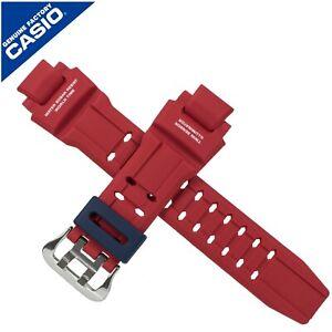Genuine Casio Watch Strap Band for GA-1100 GA 1100 RED BLUE BUCKLE 10493627