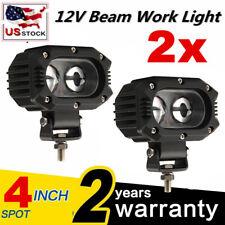 2x 4 Led Head Lamp For Caterpillar Skid Steers Excavator Forklift Light Loader