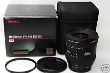 *EXC+* Sigma AF 10-20mm F/4-5.6 EX DC Lens For Pentax w/ Original box, Soft case
