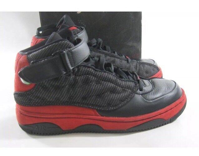 Los negro hombres de 10,5 Nike Air Jordan AJF 13 negro Los varsity rojo blanco 375453-061 3bfcf6