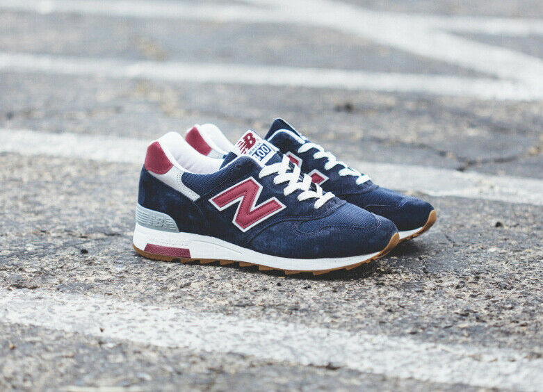 NEW BALANCE Navy bluee Suede M1400CU Classic UNISEX Made In USA Sneakers 38