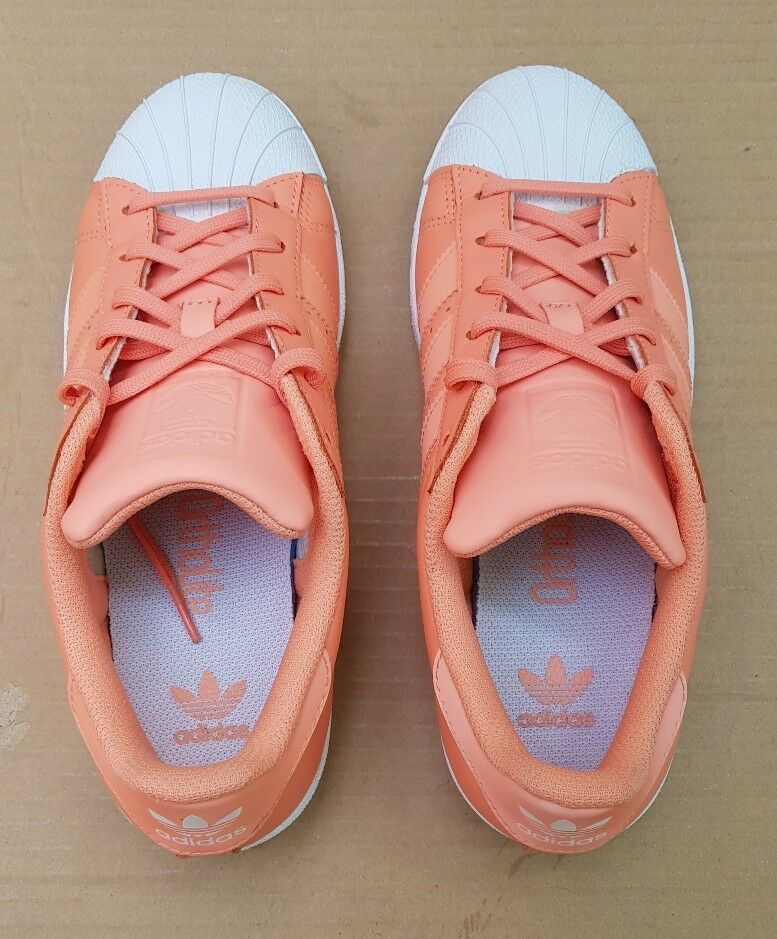 ADIDAS SUPERSTAR HOLOGRAPHIC CORAL IRIDESCENT TRAINERS SIZE 3 3 3 UK RARE WORN TWICE 382ddd
