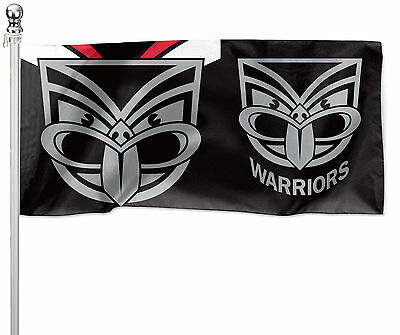 LARGE 1800x900mm Licensed NRL NEW ZEALAND WARRIORS Pole Flag (Pole not included)