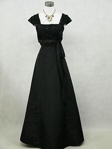 Plus size black ballgown wedding evening formal bridesmaid dress 22 24