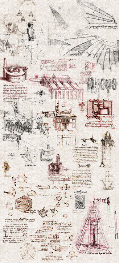 Smita Tapete Leonardo 23094 Mural Wandbild Vinyl Vlies Vliestapete Da Vinci