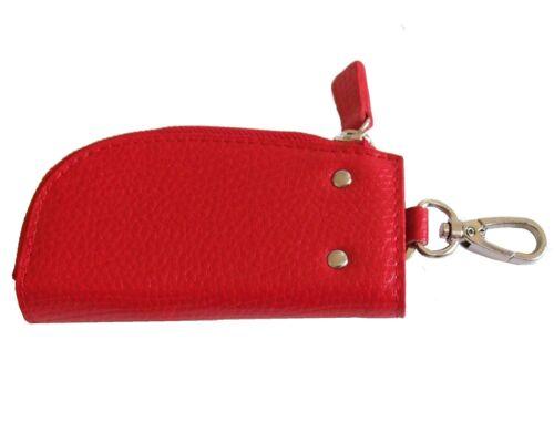 1014 Zipped Keyholder Case for 6 Keys Key Holder Black or Red