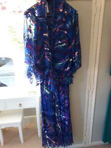 Beautiful-Kirsten-Krog-silk-dress-amp-jacket-size-16-BNWT-RRP-395
