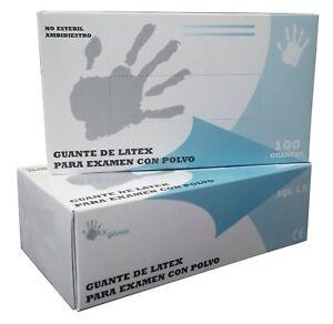 Color Natural Guantes de Latex Natural Clorinado Sin Polvo Max Gloves Talla XS 100 unidades