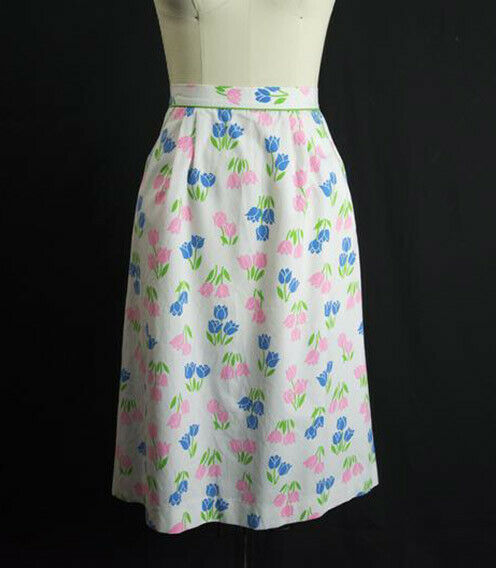 Vintage Tulip Print Skirt SweetNovelty Print Past… - image 3