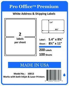 PO13 400 PRO OFFICE Premium Shipping Label Self Adhesive Ebay Paypal HALF SHEET 859801003303
