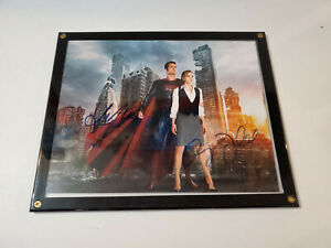 Super-man-amp-Lois-Lane-picture-framed-Autographed-by-Henry-Cavill-amp-Amy-Adams