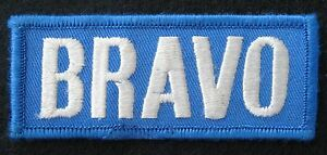 BRAVO-EMBROIDERED-SEW-ON-ONLY-PATCH-ADVERTISING-UNIFORM-BADGE-3-3-4-034-x-1-1-2-034