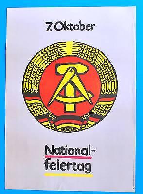 Ddr Plakat Poster 1459 | 7. Oktober Nationalfeiertag 1987 | 81 X 57 Cm Original Buy One Give One