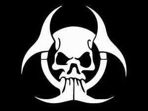Nuclear Vinyl Decal Bumper Sticker High Quality Apocolypse Truck Zombie