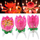Amazing Flower Lotus Lights Music Musical Birthday Candle Cake Topper Gift xc