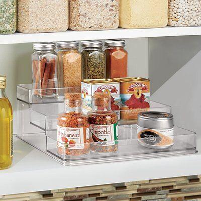 Kitchen Cabinet Spice Jar Rack Organizer 3 Tier Shelf Clear Perfume Cupboard NEW