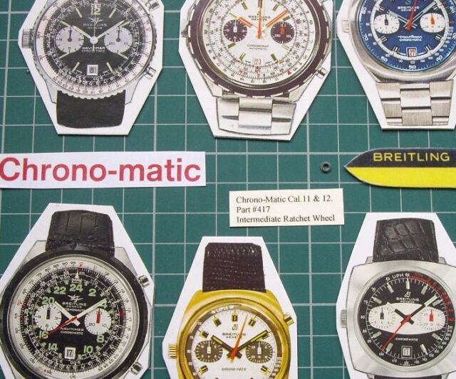 #417 Intermediate Ratchet Wheel. 1970s Chrono-Matic Breitling Heuer Cal.11 12 14