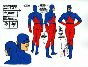 CHALLENGE Of The SUPER FRIENDS : The ATOM MODEL SHEET DC ALEX TOTH