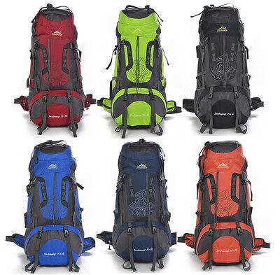 40L/80L women men Outdoor Backpack Hiking Camping Travel Rucksack Waterproof Bag
