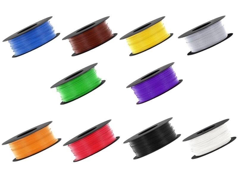 500 meter Tgoldn 0,04mm ² Livy jeu 10 colors MINCE FLEXIBLE Câble sur bobine