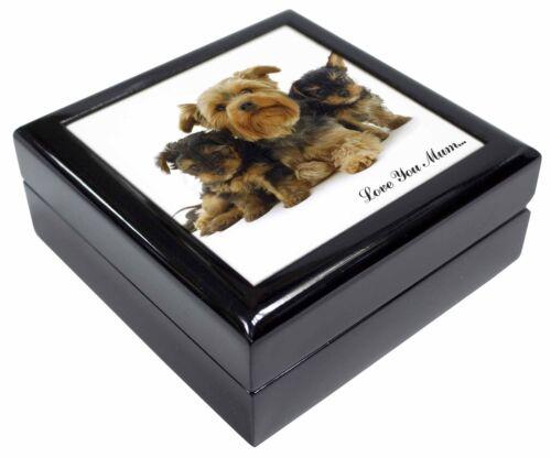 MUM-D14JB Yorkshire Terriers /'Love You Mum/' Keepsake//Jewellery Box Christmas Gi