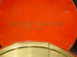 High Quality Image Is Loading VINTAGE TIN BUSY BEE CANDY CO ST LOUIS