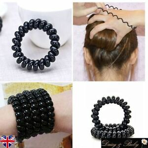 rubber hair band Phone Wire bobble Hair Tie Scrunchie Ponytail ... 4f663ac1936