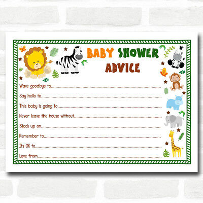 Jungle Baby Shower Advice To