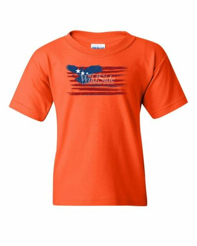 Stars and Stripes Bald Eagle Flag Youth T-Shirt Patriotic 4th of July Kids Tee