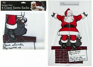 4-X-SACCHI-Gigante-Babbo-Natale-Calza-Jumbo-Grande-regalo-di-Natale-Elfo-Borsa