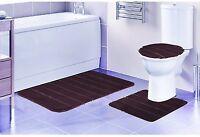 3 Piece Bathroom Rug Set, Bathroom Rug, Contour Rug And Lid Cover, Louise Brown