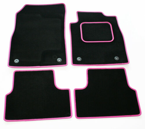 Perfect Fit Black Sapp Carpet Car Mats for Kia Picanto 04/> Pink Leather Trim