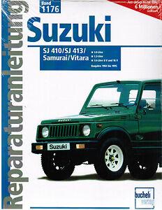 book repair manual suzuki sj 410 sj 413 samurai vitara band 1176 rh ebay com 1988 Suzuki Samurai Carburetor 1990 Suzuki Samurai
