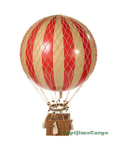 Details About Xl Hot Air Balloon Red White Striped 17 Ceiling Hanging Aviation Home Decor