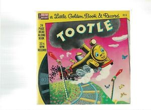 Vintage-BOOK-amp-RECORD-1976-TOOTLE-A-LITTLE-GOLDEN