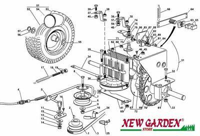 Vue en Éclaté Carrosserie Tracteur Tondeuse EL63 XE70 Castelgarden Pièce 2002-13