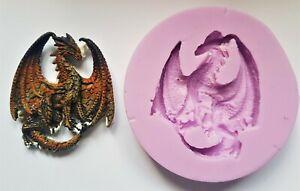 Drachen-002-Silikonform-fur-Kuchendekoration-Schokolade-Ton-Usw