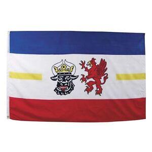 Fahne Mecklenburg-Vo<wbr/>rpommern Polyester Gr. 90x150 cm, mit Verstärkungsba<wbr/>nd