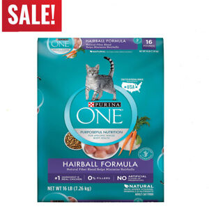 Purina-ONE-Hairball-Formula-Adult-Dry-Cat-Food-16-Lb-bag-FREE-SHIPPING