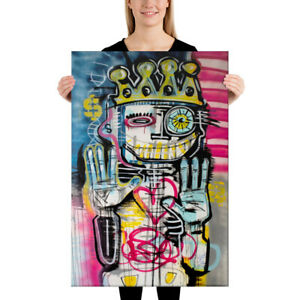 CANVAS-Street-Art-Graffiti-Print-of-Painting-Wall-Pop-Modern-Words-Abstract-Deco